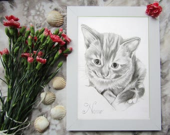 Custom Pet Portrait Drawing, Pet Portrait Drawing, Custom Pet Drawing, Custom Pet Portrait, Pet Portrait Pencil, Pet Portrait from Photo