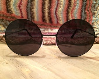 Black Sunglasses 90s Sunglasses 90s Round Sunglasses 1990s Sunglasses Grunge Sunglasses Vintage Sunglasses Retro Sunglasses Eyewear Glasses