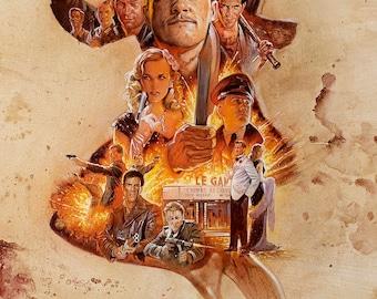 Inglorious Basterds culto película película cartel impresión Retro Vintage Brad Pitt A1 A2 A3 A4