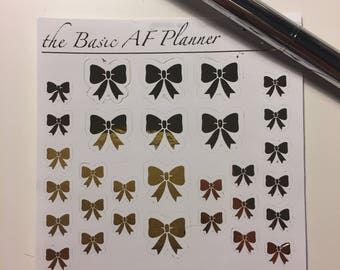 FOILED Bow Stickers | 30 Planner Stickers