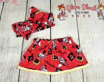 Minnie mouse outfit,  baby skirt, Disney trip outfit, infant Minnie mouse skirt, Minnie mouse first birthday outfit, first birthday outfit
