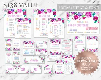 Instant Customizable LLR and Fashion Consultant Marketing Kit TEMPLATES