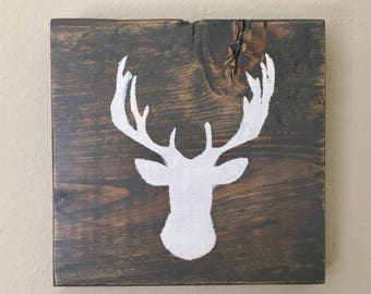 Rustic Gray Elk Head Pallet