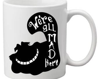 Alice in Wonderland,mad hatter,coffee mug,funny mug,disney mug,disney gift,wonderland mug,wonderland mug,humorous mug,fun alice mug,coffee