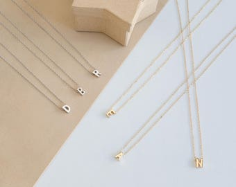 Initials necklace, Initials pendant, Letter necklace, Letter pendant, Name necklace, Initial necklace, Personalized jewelry, Minimalist