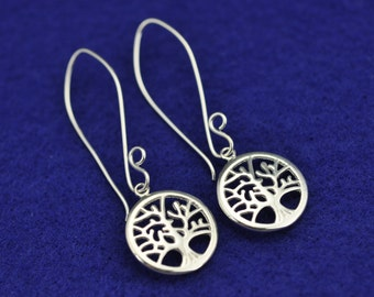Tree of Life .925 Silver dangle Earrings