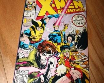 XMEN Adventures 1 Comic Book Wolverine Gambit Professor X Cyclops Jubilee Storm Vintage 1992