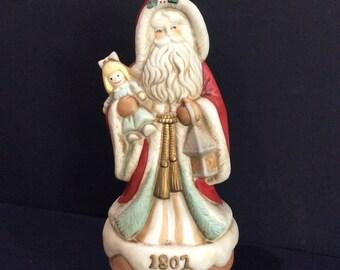 Christmas Music Box Musical Santa Music Box Porcelain Santa Clause Musical Revolving Santa Coming To Town Heirloom Santa Collection Wind Up