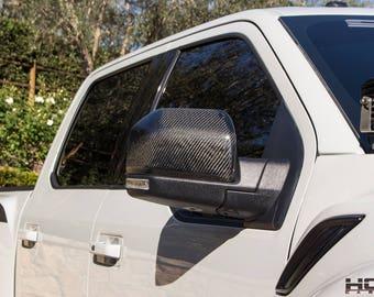 2017+ Ford Raptor Carbon fiber mirror caps