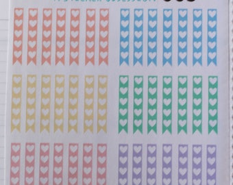 Pastel Heart Checklists (42 Stickers)