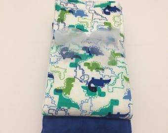 Dinosaur Flannel Burp Cloth Set