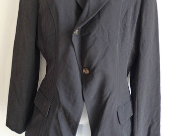 Comme des Garçons black jacket with wired hemline