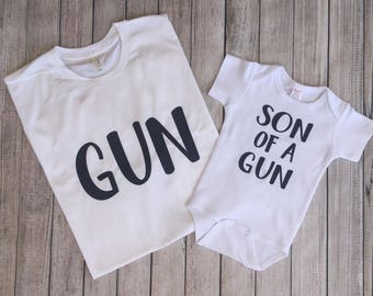 Matching Father Son Shirts, Dad Son Shirts, Fathers Day Shirt, Father Son Matching Shirts, Gift for a Hunter,Fathers Day Gift