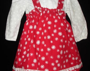 RED SNOWFLAKE SKIRT and blouse