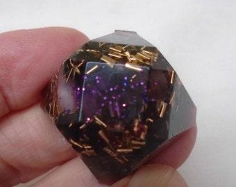 Orgone battery, diamond shape, radiation protection, rounder EMF protection