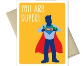 Fathers Day Cards - Cards for dad - Dad Birthday - Cute Fathers Day Cards - Dad from daughter - Dad from son - Super Dad