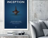 Inception Film Movie Poster Print, Christopher Nolan, Sci-Fi Film, Cult Film, Leonardo DiCaprio, Minimalist Movie Poster