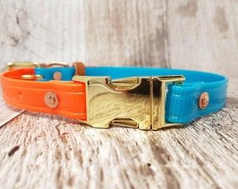 Waterproof Biothane Side-Release/Quick-Release Buckle Dog Collar