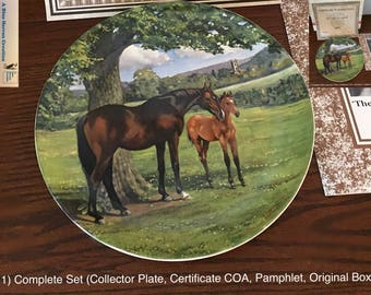 Vintage: Spode - The English Thoroughbred, The Noble Horse Series, by Susan Whitcombe, Limited Edition Collector Plate, 1988