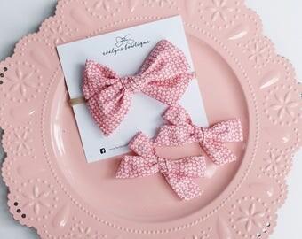 Valentines Day Bow Tiny Hearts | nylon baby headband, baby hair bows, baby headband, baby bows, baby headbands, valentines day