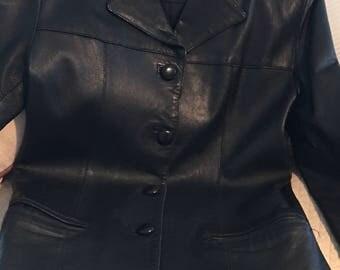 Vera Pelle Leather Jacket, blackladies