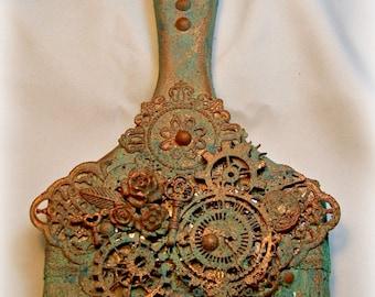 Altered Art, Paint Brush - Steampunk w/patina