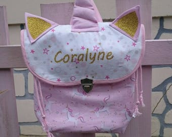 "Backpack satchel nursery crib Unicorn ""My first bag trend"" Unicorn school bag"