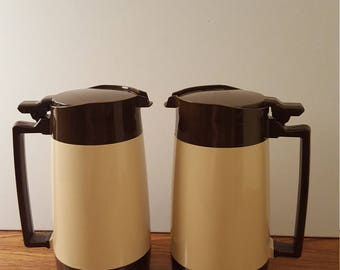 Pair of Cambro Diner Style Carafes