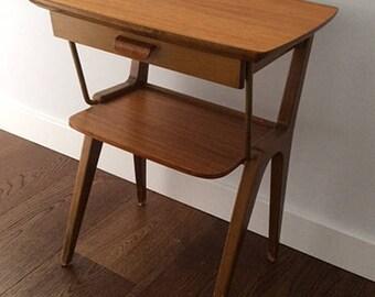 Night table in teak Danish. 60's.