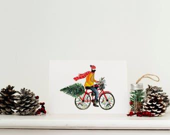 Bike christmas cards | Etsy UK