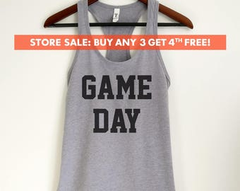 Game Day Tank Top, Ladies Tank Top, Workout Shirt, Yoga Tank Top, Football Tank Top