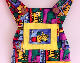 Fruity Animal baby dungarees