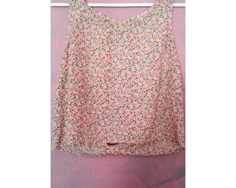 Small Floral Crop Top Open Back