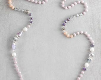 Nadia Beaded Necklace | Lavender