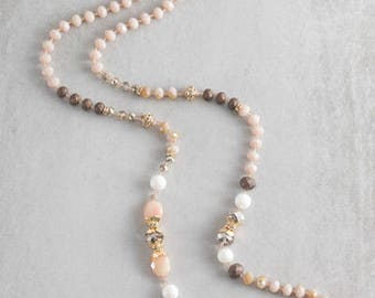 Nadia Beaded Necklace | Tan