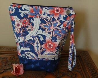 Ginko Florals, Knitting Project bag, medium
