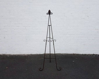 Black Brown Easel HIRE. Cast Iron Easel. Sign Stand. Wedding Decoration. Signage Display. Sign Holder. Party Decorations.