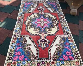 "4'6""x7'6""ft.Floor rug,oushak rug,home desing rug,area deco rug,anatolion rug,vintage rug,turkish rug,rugs."