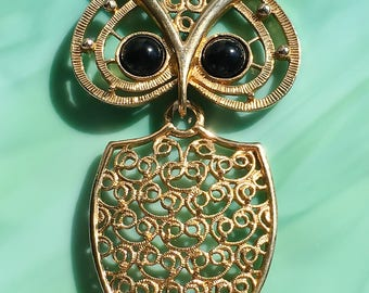 Animal Jewelry | Owl Necklace | Owl Jewelry | Nature Jewelry | Pendant Necklace | Bird Jewelry | Gift for Her | Vintage Jewelry