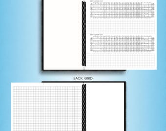 Foldout YEARLY calendar 2018, #F-Y (printable filofax personal size inserts, personal travelers notebook inserts, personal tn inserts)