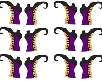 Witch Boots Cup Cake Toppers