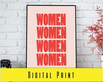 Digital Print WOMEN FEMINIST PRINT Print Digital Download Wall Art Prints Photography Prints Home Decor Prints