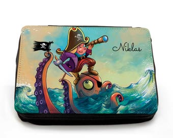 Pencil Case Pirate with Custom Name FM059