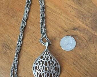 1970's metalwork pendant