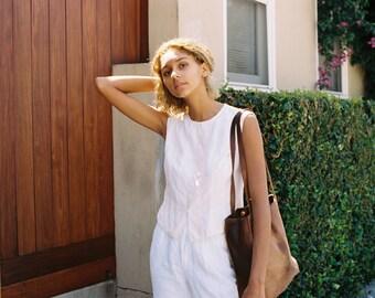 white silk blouse DKNY