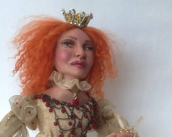Queen Lizzy ooak art doll