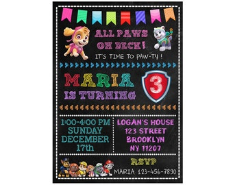 Paw Patrol Invitation, Paw Patrol Birthday Invitation, Paw Patrol Invite, Paw Patrol Birthday Party