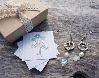 Clock earrings // drop earrings // dangle earrings // beaded earrings // funky earrings // gift for her // handmade jewelry