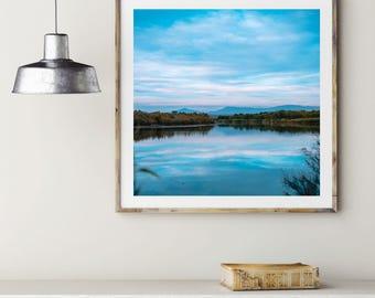 Salt River photography print. Granite Reef, Arizona landscape photograph.Large vertical artwork, oversized art print.