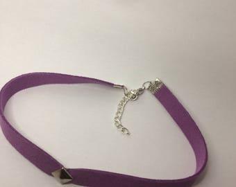 Single Stud Purple Faux Suede 3/8 Inch Choker // Adjustable & Stylish // Simply Charming Chokers